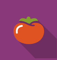 Tomato flat icon with shadow vector