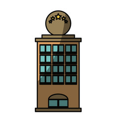 tower building isolated vector image
