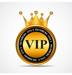 VIP Members Only Gold Sign Label Template vector image vector image
