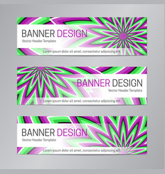 Web header design purple green banner template vector