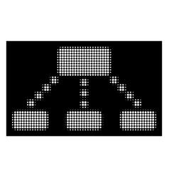 White halftone hierarchy scheme icon vector