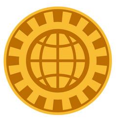 World gold casino chip vector