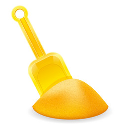 yellow beach shovel childrens toy for sand stock vector image vector image