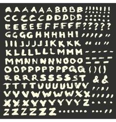 Chalk Alphabet on Dark Background vector image