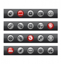 computer and devices bars vector image