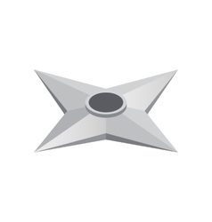 Flying knife made of steel isometric 3d icon vector image vector image