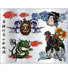 japan tattoo vector image vector image