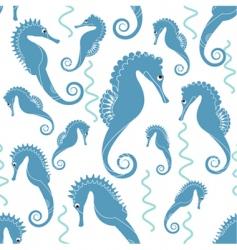 sea horse pattern vector image vector image