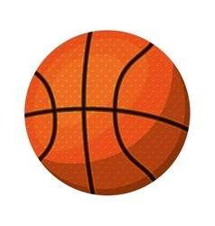 silhouette color with basketball ball to left vector image vector image