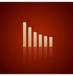business graph down vector image