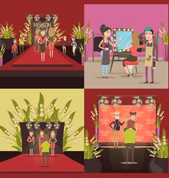 Fashion show design concept vector