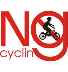 No cycling vector image vector image