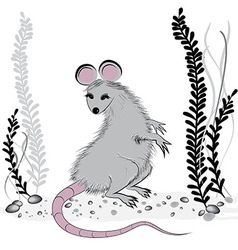 Rat mouse as symbol for year 2020 vector