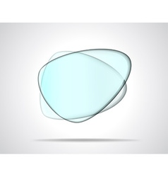 Smooth glass plates vector image vector image