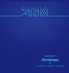 blue happy new year 2018 background vector image