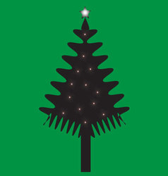 christmas of tree vector image