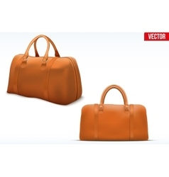 Classic Leather Bag Set vector image