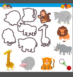 educational activity with shapes vector image