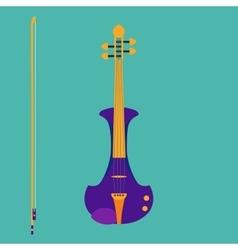 Electric violin vector image vector image