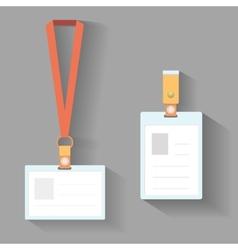 Lanyard badges flat design vector image vector image