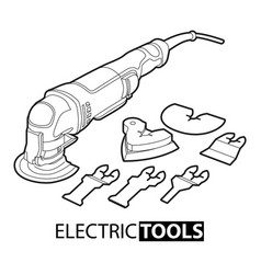multi tool on white background vector image