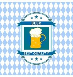Retro beer label vector image