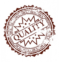 stamp quality vector image vector image