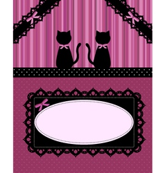 cats card vector image vector image