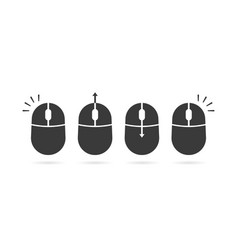 collection of black scroll and click icon vector image