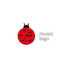development creative logo musical note vector image