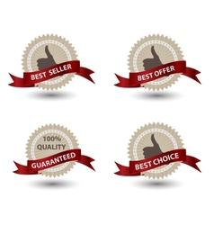 Quality Labels in retro vintage design vector image vector image