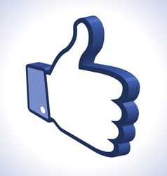 3d Thumb Up vector image