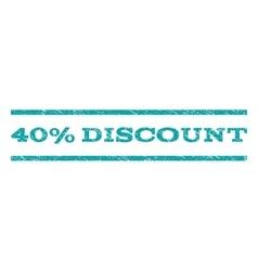 40 percent discount watermark stamp vector