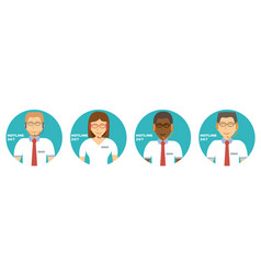 advises client customer support group icons vector image