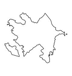 Azerbaijan map of black contour curves of vector