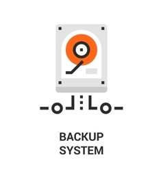 Backup system icon vector