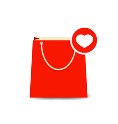 Bag buy favorite love paper shopping icon vector