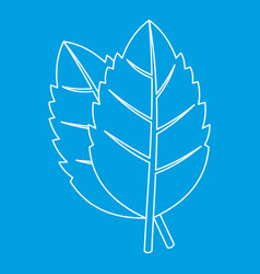 Basil leaves icon outline style vector
