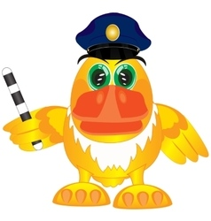 Bird police on white vector