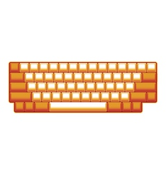 Blank computer keyboard vector