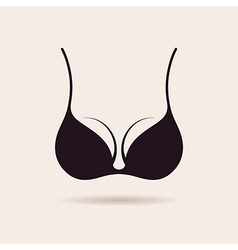 Bra icon logo Vintage label design vector image
