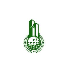 building golf logo icon design vector image