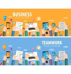 business logo design template teamwork or vector image