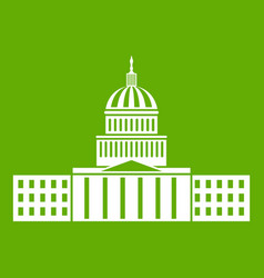 capitol icon green vector image