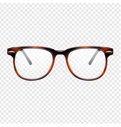 classic eye glasses vector image