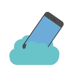 Cloud technology smartphone digital device vector