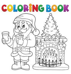 Coloring book santa claus thematics 2 vector