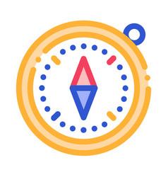 Compass alpinism course detector tool icon vector