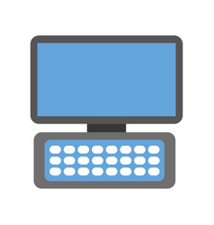 computer keyboard device modern technology vector image