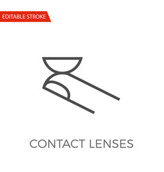 Contact lenses icon vector